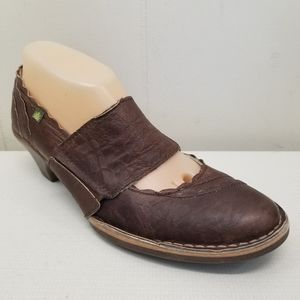 El Naturalista 40 Brown Heels Clogs Shoes DAKYYU